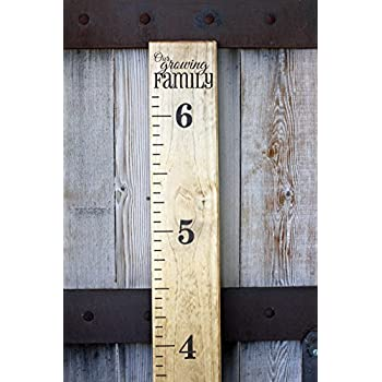 Amazon com diy vinyl growth chart ruler decal kit our growing