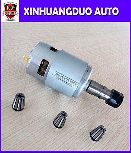 spindle 775 with ER11 Tail hole 5MM+1.5mm / 2.5mm / 3.175 mm High speed Large torque DC motor Electric tool Electric machinery 12v24v by XINHUANGDUO (Image #2)