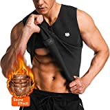 FitsT4 Men Waist Trainer Vest for Weight Loss Hot Sauna Sweat Suits Zipper Body Tank Top Neoprene Slimming Corset Shaper for Gym Workout Training