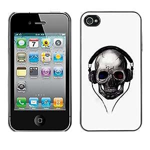 TECHCASE**Cubierta de la caja de protección la piel dura para el ** Apple iPhone 4 / 4S ** Skull Beats