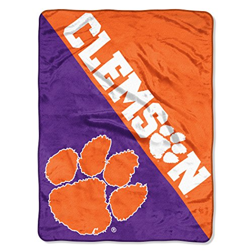 The Northwest Company Officially Licensed NCAA Clemson Tigers Halftone Micro Raschel Throw Blanket, 46