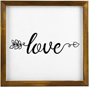 Love Arrow Hanging Wood Sign with Frame Decor for Garden,Quote Saying Words Rustic Wood Wall Sign,Personalized Text Funny Wooden Farmhouse Quotes Label l4dmhmsw8qhe