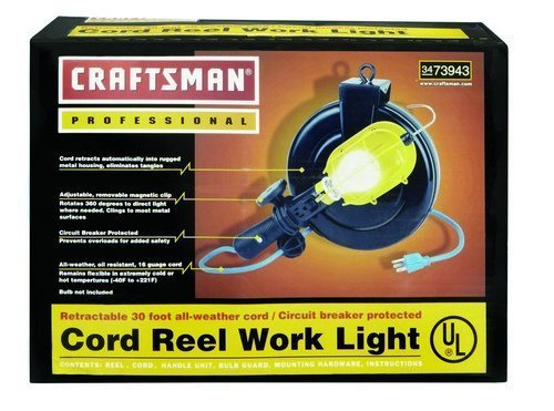 Craftsman 30 Foot Cord Reel Work Light