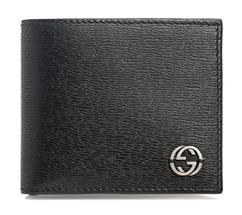 Gucci Black Shanghai Leather Wallet Guccissima style Box New (Guccissima Leather Wallet)