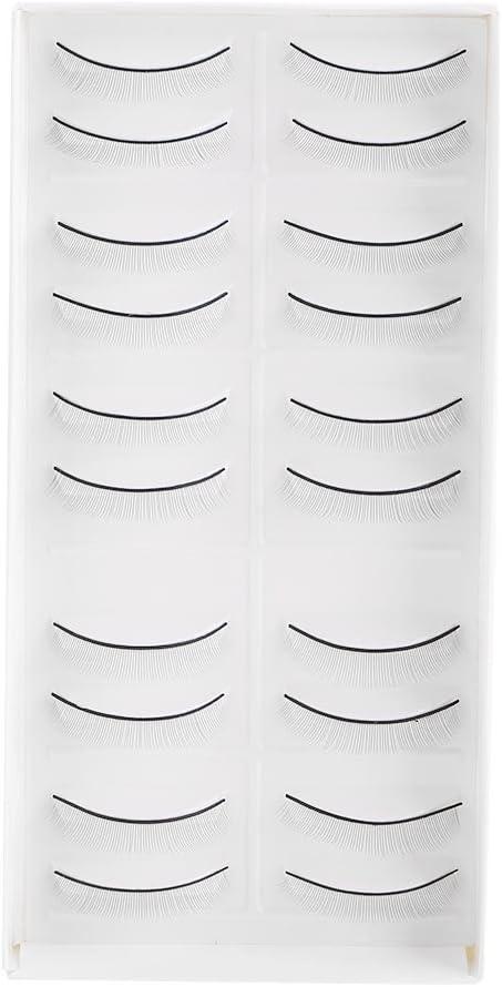 10 Par Practican pestañas postizas y pestañas falsas para la extensión de pestañas entrenamiento de injertos maquillaje de ojos