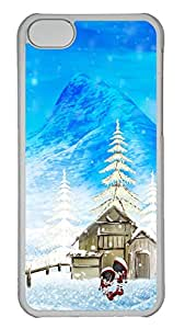 iPhone 5C Case Christmas House and cartoon PC iPhone 5C Case Cover Transparent