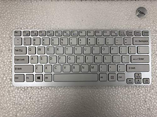 (New US Layout Laptop Keyboard for Sony Vaio E14 SVE14 SVE14A SVE141 SVE 14 SVE14111ELW SVE141C11L SVE141D11L SVE141J11W Series Replacement p/N:149183311US)