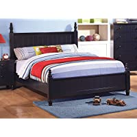 Coaster Zachary Full Poster Bed in Navy Blue