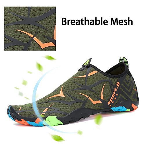 Khaki Water Pool Quick Aqua Sports Mens Surf for Orange Barefoot Walking Swim Womens Dry Yoga Beach Diving Shoes a1wnq75w