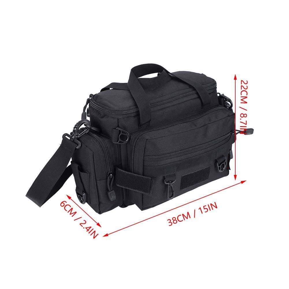Alomejor Angelk/öder Tasche Angeln Umh/ängetasche Pack Angelzubeh/ör Tasche Angelk/öder Reel Bag Pouch mit verstellbarem G/ürtel
