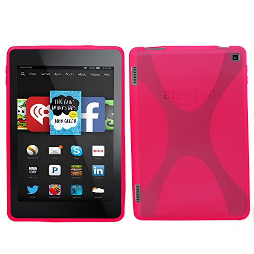 Samrick 'X' Wave Hydro Gel Protective Case for Kindle Fire HD7 (2014 Version) - Pink