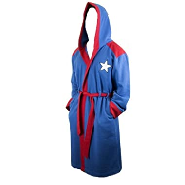 Marvel Comics Captain America Super Hero Fleece Bathrobe with Hood