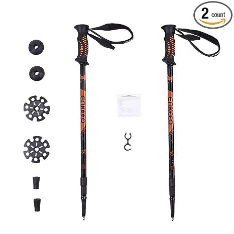 801e755d3fb ENKEEO 2 Pack Trekking Poles Anti Shock   Quick Lock Hiking Poles  Ultralight Collapsible Trail Walking