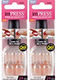 "NEW **2-PACK** KISS Gel imPRESS ""PICK ME"" by Broadway Press-On Manicure Nails"