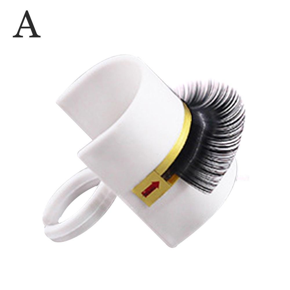 Gracefulvara 3 in 1 Eyelash Extension Glue Ring with Eyelash Pallet Set for False Eyelash Holder or Tattoo