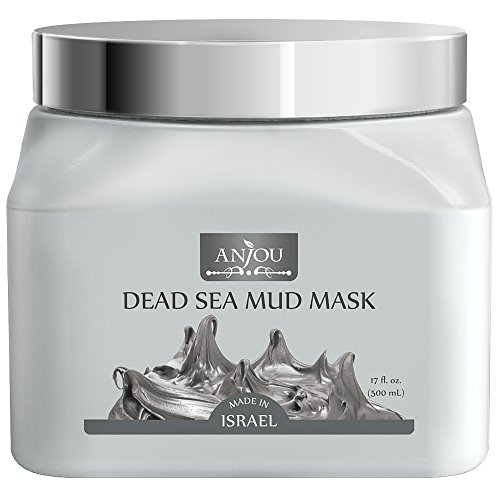 [Upgraded] Anjou Dead Sea Mud Mask 17 oz for Face, Body & Hair, Made in Israel
