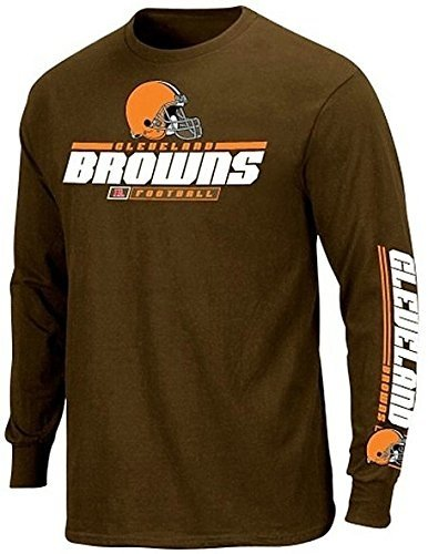 (Majestic Athletic Cleveland Browns NFL Apparel 2 Hit Long Sleeve Shirt Brown Big & Tall Sizes (5XT))