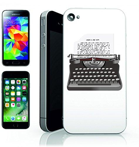Smartphone Case macchina da scrivere d epoca entrando di retro scrittore della Lettera del Vecchio antico della macchina di carta di tipo laterale del testo di tasti per Apple Iphone 4/4S, 5/5S, 5