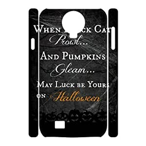 3D Stevebrown5v Halloween Samsung Galaxy S4 Cases Halloween Quotes, [White]