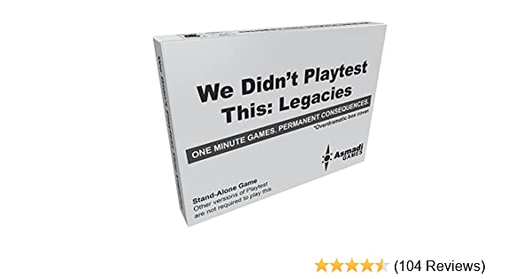 Legacies Card Game Flat River Group ASI 0016 We Didnt Playtest This