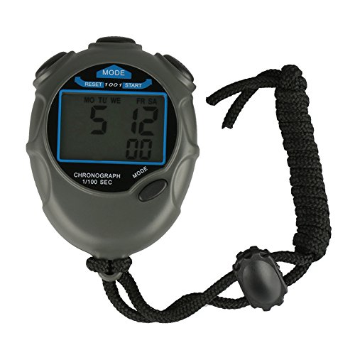 Multi function Single row Display Waterproof Stopwatch, Track and Field Timer Stopwatch, Outdoor Timer Electronic Code Table, Calendar,Professional Sports Stopwatch for Coaches Runners