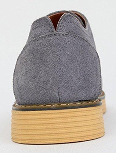 Diffyou Mens Mode Plat Lacets Oxfords Baskets Confortables Gris
