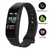 Fitness Tracker,Color Screen Activity Tracker Watch Blood Pressure Blood Oxygen, IP67 Waterproof Smart Band Heart Rate Sleep Monitor Calorie Counter Pedometer Men, Women Kids