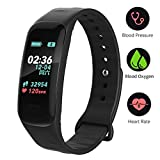 Fitness Tracker,Color Screen Activity Tracker Watch Blood Pressure Blood Oxygen, IP67 Waterproof Smart