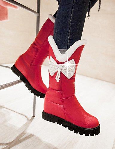 Trabajo negro Botas 5 Cn43 De Eu42 Tacón Uk4 Eu36 Semicuero Punta Cerrada Red Redonda Rojo Cn36 Casual Uk8 Oficina Bajo us6 Mujer White 5 Xzz Y Zapatos U Vestido us10 8qwZPP