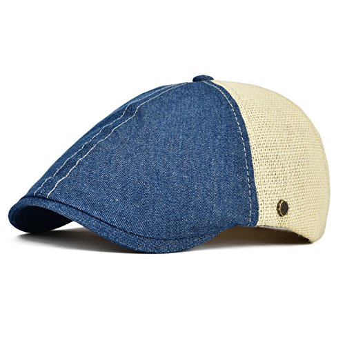 VOBOOM-Ivy-Caps-Breathable-Cotton-Hemp-Fabric-Flat-Caps-Cabbie-Hat