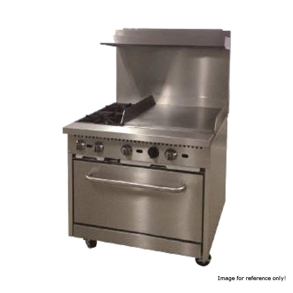 Comstock Castle R6-24 36'' Wide Gas Range with Two Burners & 24'' Griddle