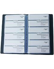 KINGFOM ™ Business Journal libro de tarjetas de visita para 120 uds. Negro.