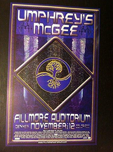 Umphrey's Umphreys McGee Rare Original Limited Ed Denver Fillmore Concert Poster from ConcertPosterArt