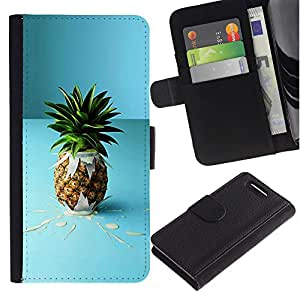 iBinBang / Flip Funda de Cuero Case Cover - Piña de la fruta macro Cóctel - Sony Xperia Z1 Compact D5503