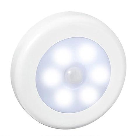 Sensor automático de 6 LED de luz de la Noche del Detector inalámbrico lámpara de Pared
