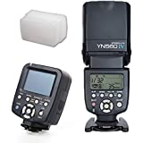 Yongnuo YN560-TX LCD Wireless Controller + YN-560 IV Flash Speedlite Light + Soft Diffuser For Nikon D750 D610 D810 D800 D5300 D5200 D5100 D90 D80 D3300 D3200 D3100 D7100