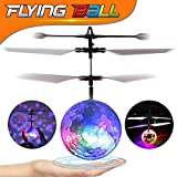 Flying Ball Toys RC Infrared Induction Helicopter Remote Control Rechargeable Drone with Crystal Colorful LED Light Halloween Christmas Birthday Gift Ideas for Kids Boys Girls Teens Indoor and Outdoor