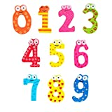 mini fridge wood cover - Yeefant Wooden Cartoon Numbers Math Magnetic Collage Animals Magnets Fridge Sticker Refrigerator for Child Preschool School Adult Toddlers,10 PCS (0-9 Numbers)