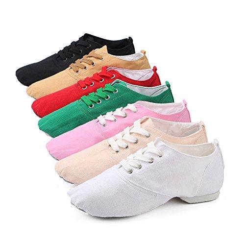 Shoes Boots Blue Modern up missfiona Canvas Lace Womens Classic Sole Jazz Suede Dance 66BnPYx
