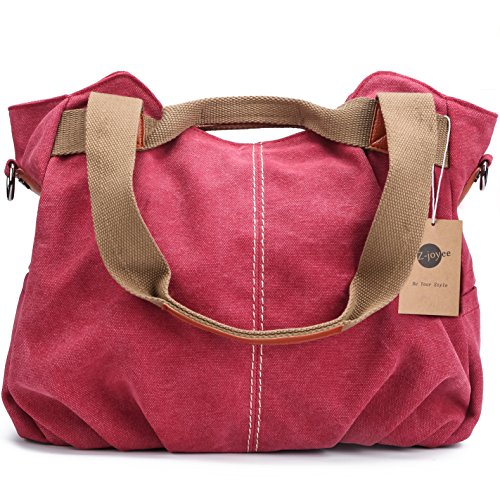 Z-joyee Women's Ladies Casual Vintage Hobo Canvas Daily Purse Top Handle Shoulder Tote Shopper Handbag Satchel Bag ()