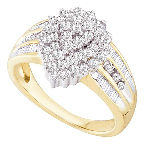 Yellow Gold Baguette Ring - 7