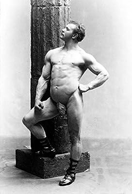 1894 Old Historical Photograph Male Nude Portrait Sandow Bodybuilding - Various Sizes Reprint