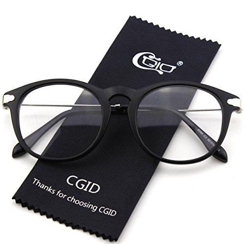 Matte ovales claires monture Black décaille de à trou fashion serrure CN88 et Lunettes branches CGID métalliques qtRw6En
