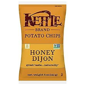 Kettle Brand Potato Chips, Honey Dijon, 5-Ounce Bags (Pack of 15)