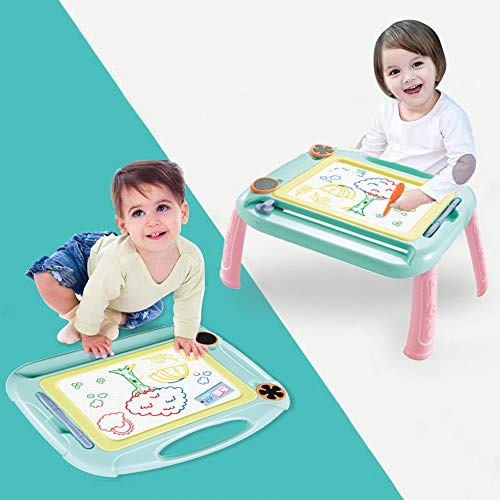 Yumonio Magnetic Drawing Board for Kids Magnetic Doodle Board Drawing Tablet Educational Kid Toys for 1-3 Year Old Girls and Boys Blue