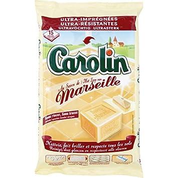 Carolin toallitas Ultra imprégnées, Ultra Resistentes al jabón de Marsella – (Precio por Unidad
