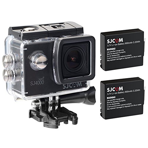 SJCAM Original SJ4000 WiFi Version Full HD 1080P 12MP 2.0'' LCD Diving Bicycle Action Camera(Black) + Extra 1 Battery
