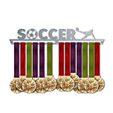 Soccer Medal Hanger Display V1   Sports Medal Hangers   Stainless Steel Medal Display   by VictoryHangers - The Best Gift for Champions !