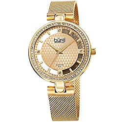Sparkling Colored Crystal Watch with Floating Dial