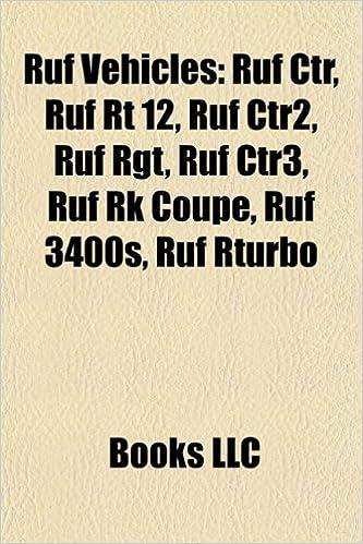 Ruf Vehicles: Ruf Ctr, Ruf Rt 12, Ruf Ctr2, Ruf Rgt, Ruf Ctr3, Ruf Rk Coupe, Ruf 3400s, Ruf R Kompressor, Ruf Btr, Ruf Rturbo, Ruf T: Amazon.es: LLC Books: ...